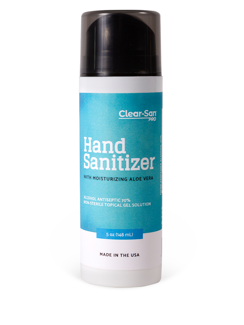 Clear-San Pro - 5oz - Gel Sanitizer with Aloe Vera